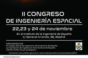 Cartel del II Congreso de Ingeniería Espacial en España.