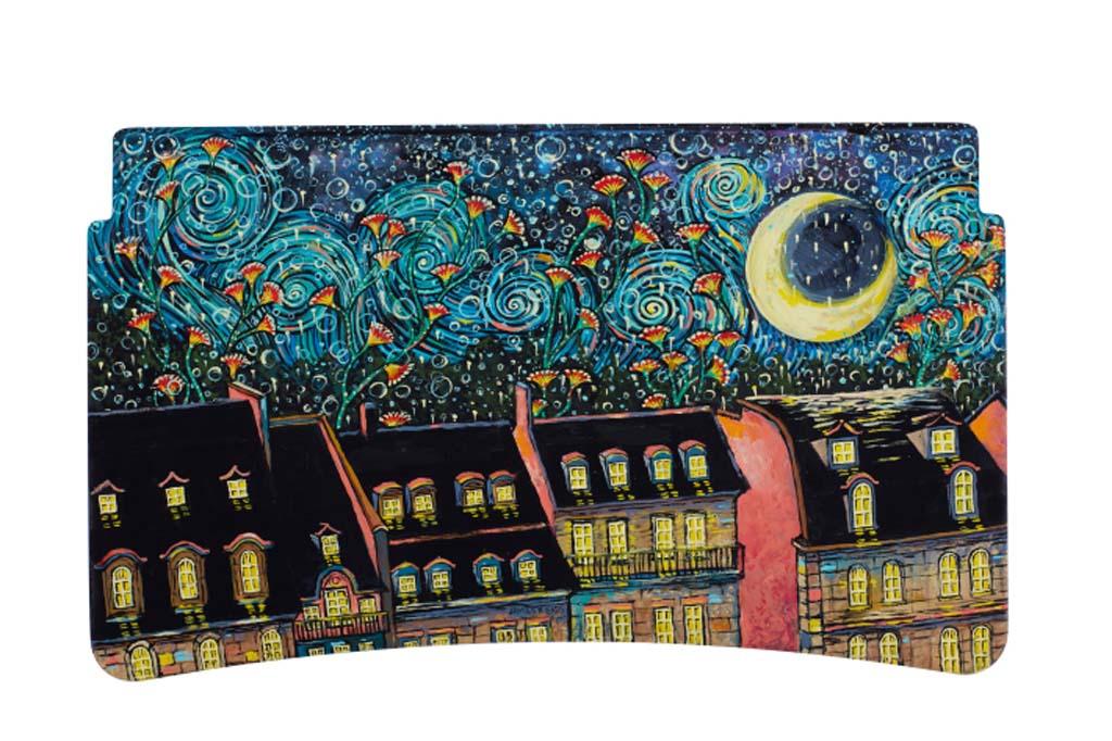 James R. Eads (París) – Con su remolino y efervescente cielo nocturno, el retrato de James de París capta la magia de la ciudad en la noche.