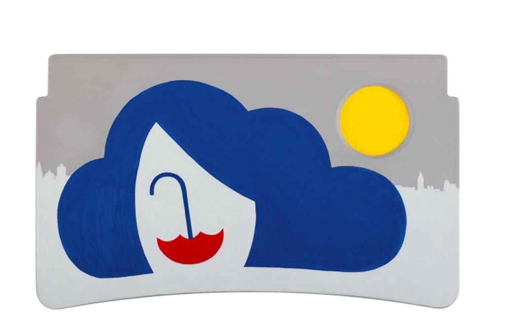 Noma Bar (Londres) – Como artista basado en Londres, Noma se ha inspirado en el clima y cómo afecta al humor de la ciudad.