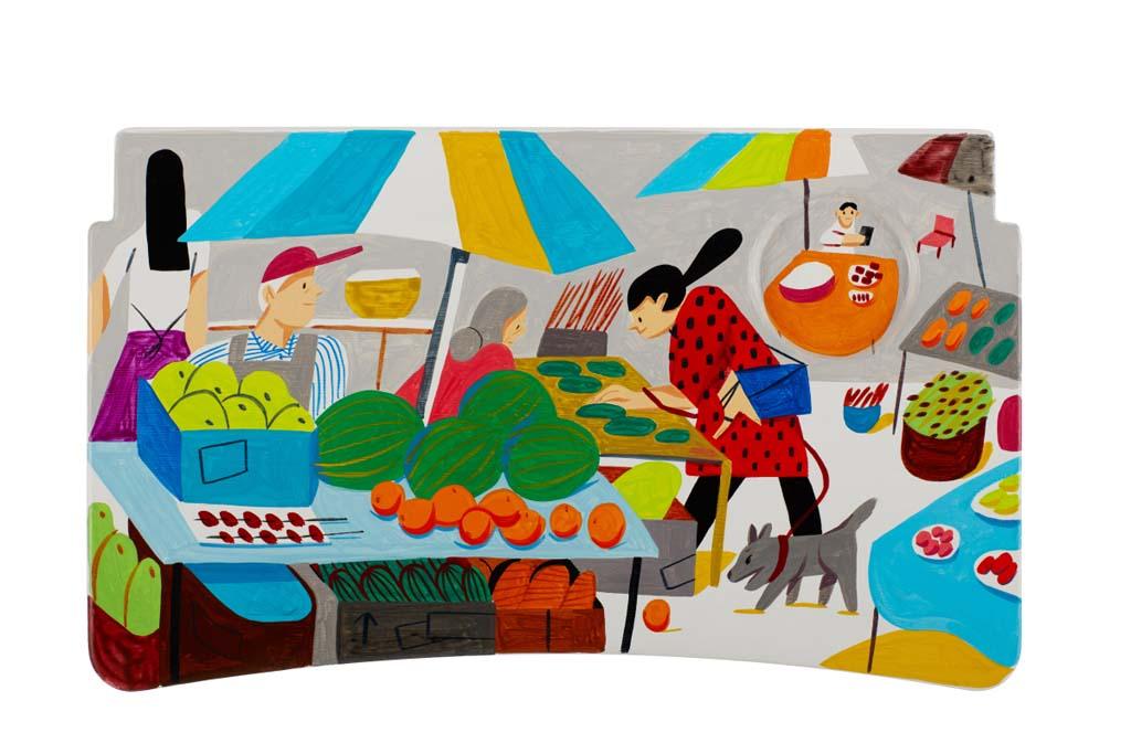 Ping Zhu (Shanghai) – En el trabajo de Ping, vemos a Shanghái a través del prisma del mercado callejero, el lugar donde la comida, el comercio y la cultura burbujean y cuentan la historia del pasado y presente de China.