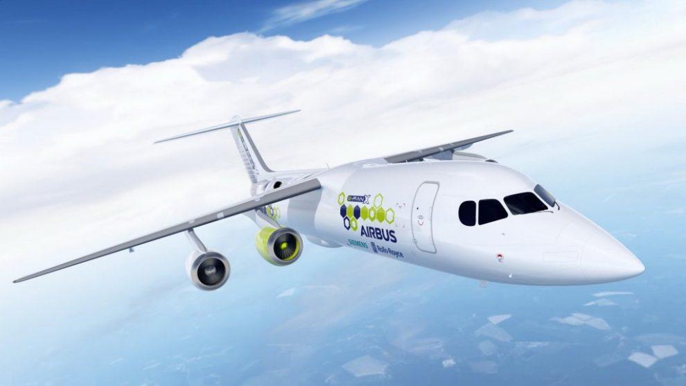 Por el momento Airbus,Rolls-Royce y Siemens han elegido al BAe 146 como plataforma aérea para su demostrador por sus cuatro motores.