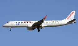 El Embraer EC-LKM fue el empleado por Air Europa en su vuelo inagural a Frankfurt.