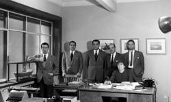 Enrique de Sendagorta, fundador de SENER, junto a directivos de SENER (año 1956)