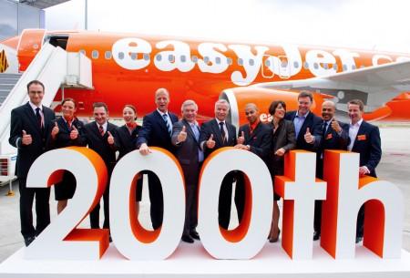 Entrega del A320 número 200 de Easyjet.