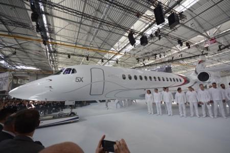 El nuevo Dassault Falcon 5X puede competir con aviones como el Gulfstream 650.