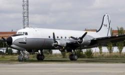 DC-4 preervado en la base de Getafe, una de las que podrán visitarse con motivo del Día de las Fuerzas Armadas