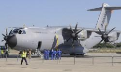 El quinto Airbus Military A400M Grizzly presente en Getafe pero lejos de los visitantes