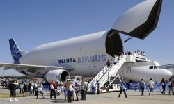 Las colas para ver el interior del Beluga fueron interminables.