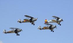 La FIO se encargó de abrir el festival aéreo.