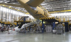 Detalle de la pértiga instalada en el A330 MRTT.