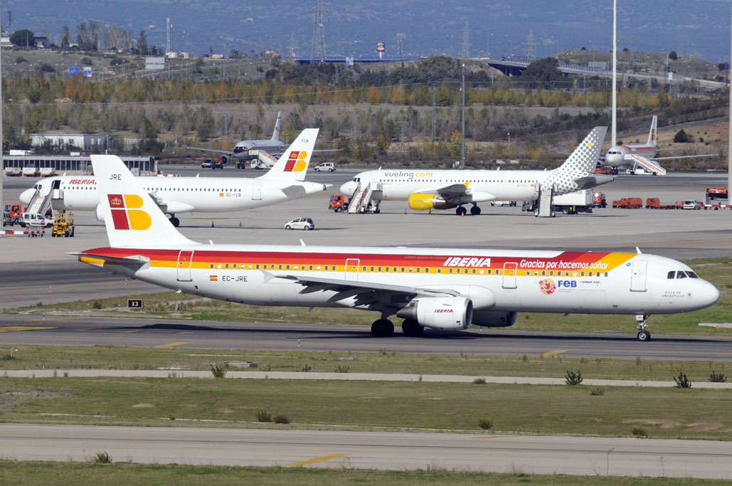 Aviones del grupo Iberia