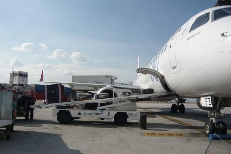 Servicios de handling en un avión.