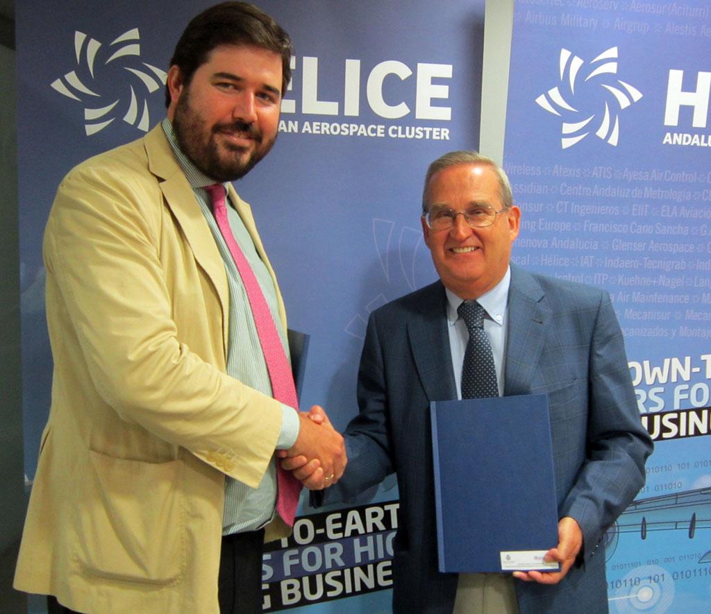Hélice y la universidad de Loyola formarán a los directivos aeronáuticos andaluces.