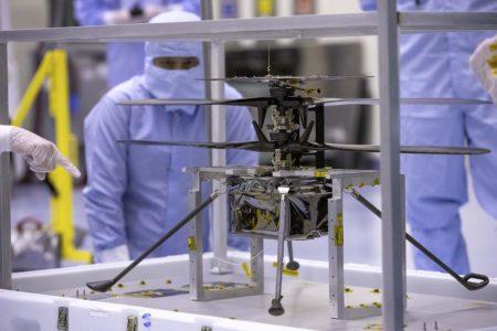 Pruebas funcionales del helicóptero marciano realizadas en 2019.