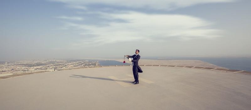 Helipuerto del hotel St. Regis de Abu Dhabi.