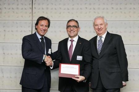 Jesúis Prieto, CEO de CT Ingenieros durante el acto de entrega del premio Europe's 500