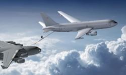 Boeing ha comenzado la producción del primer Boeing KC-46 por la pértiga de repostaje en vuelo.