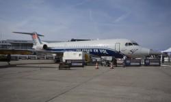 Uno de los más raros ese año. Este Fokker 100 ha sido modificado para portar diversos tipos de sensores externos.