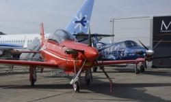 Pilatus solo ha llevado sus PC-21 y PC-12NG.