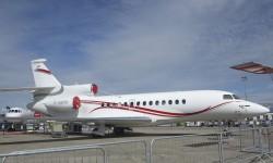 Dassault es una de las pocas firmas de la aviación ejecutiva presentes.