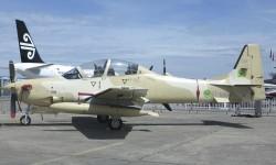 Embraer muestra un Tucano de la Fuerza Aére de Mauritania.