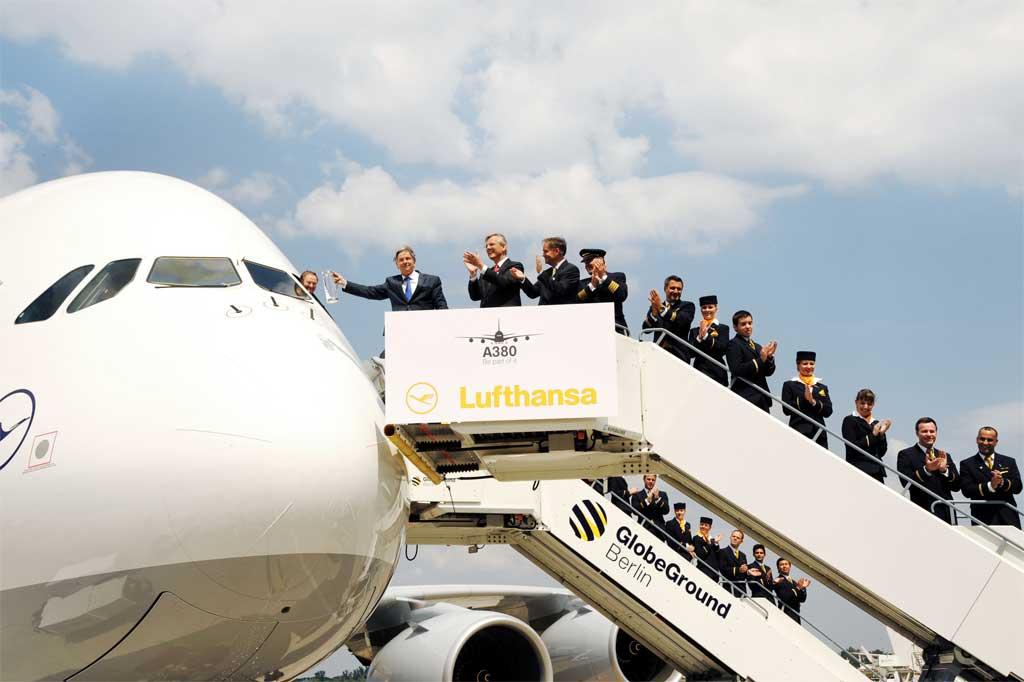 Lufthansa bautiza su noveno A380 con el nombre de Berlin
