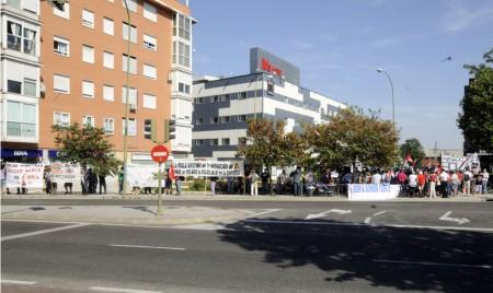 Manifestación contra IAG