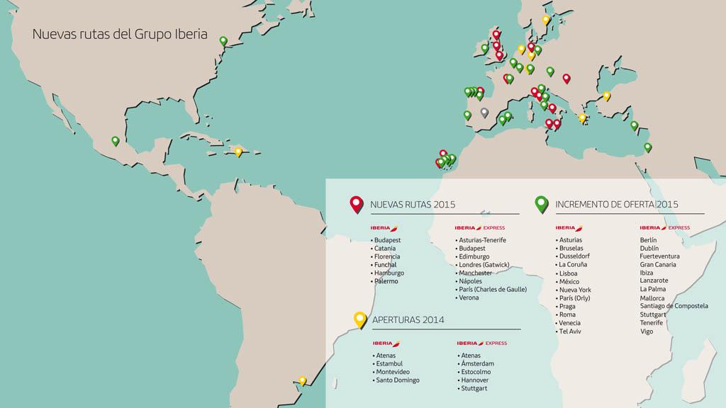 ed8eb1b96a Nuevas rutas y frecuencias de Iberia e Iberia Express en 2014 y 2015.