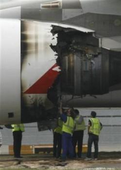motor Trent del A380 de Qantas