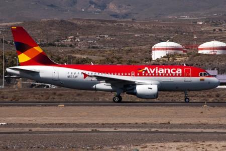 Foto de Christian Amado del nuevo A319 de Avianca