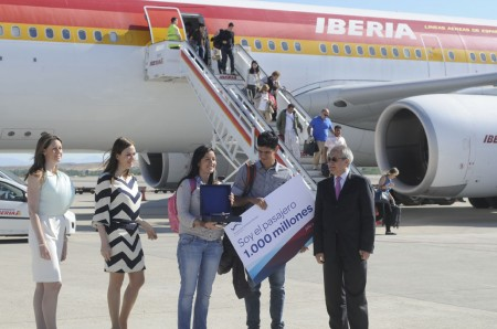 Pasajero 1000 millones del aeropuerto de Madrid Barajas