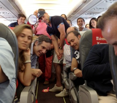 Pepe Reina en Iberia Express
