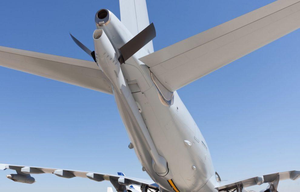 Pértiga de reabastecimiento en vuelo del Airbus A330MRTT.