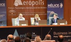 La presidenta de la Junta de Andalucía ha presidido el acto de presentación de resultados de la industria aeroespacial andaluza