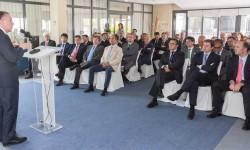 Adolfo Menéndez, presidente de TEDAE, se reunió con representantes de las 80 empresas que integran la asociación.