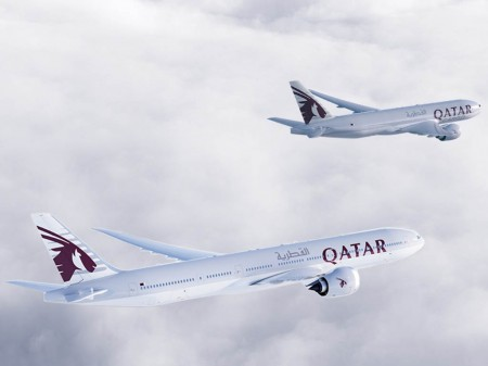 Boeing 777X y B-77F de Qatar Airways