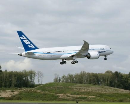 Sexto Boeing 787 Dreamliner  en vuelo