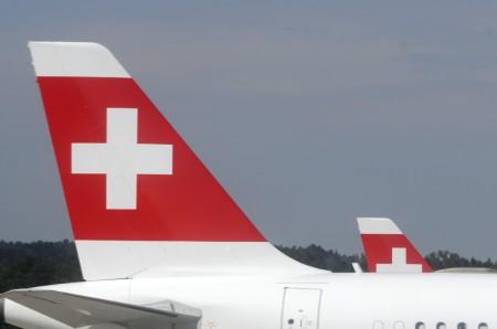 Cola de un A321 de Swiss