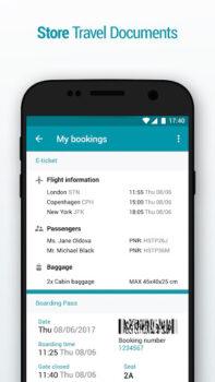 información del pasajero, con su tarjeta de embarque electrónica generada por Kiwi.com según la web de este portal.