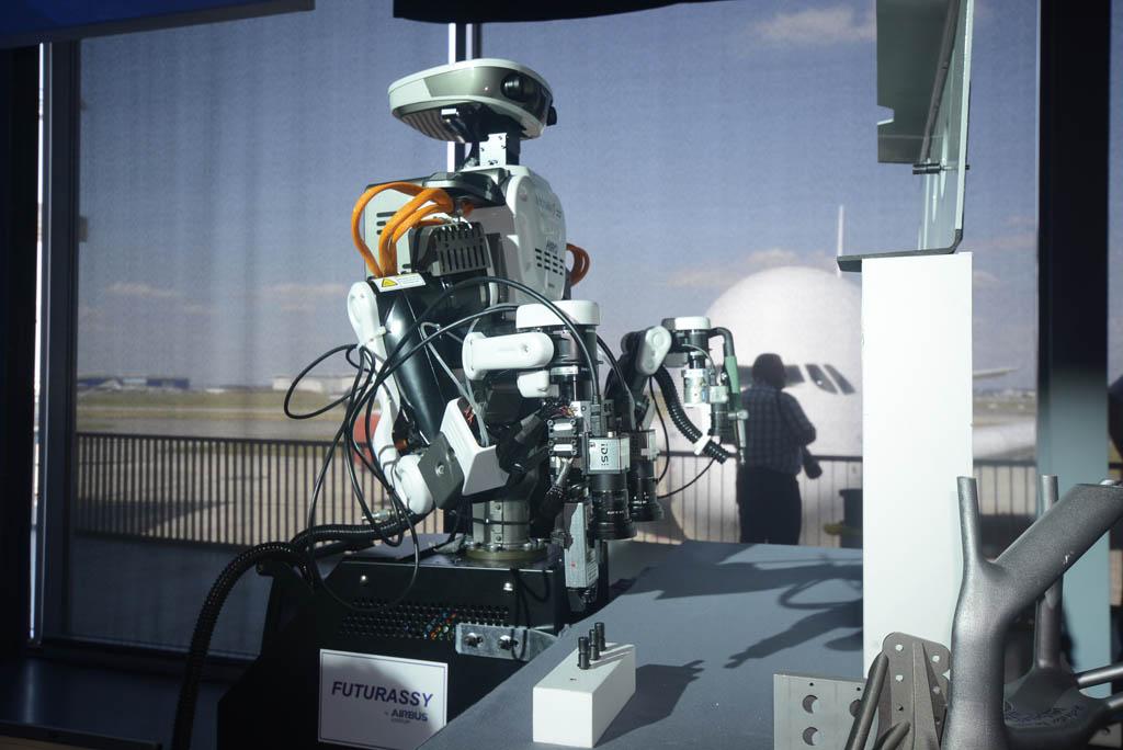 Robot de Tecnalia para trabajos en el estabilizador horizontal del Airbus A380