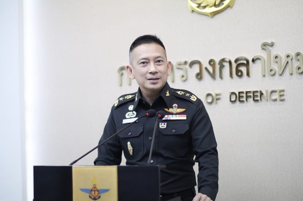 El teniente general Kongcheep durnate su intervención.