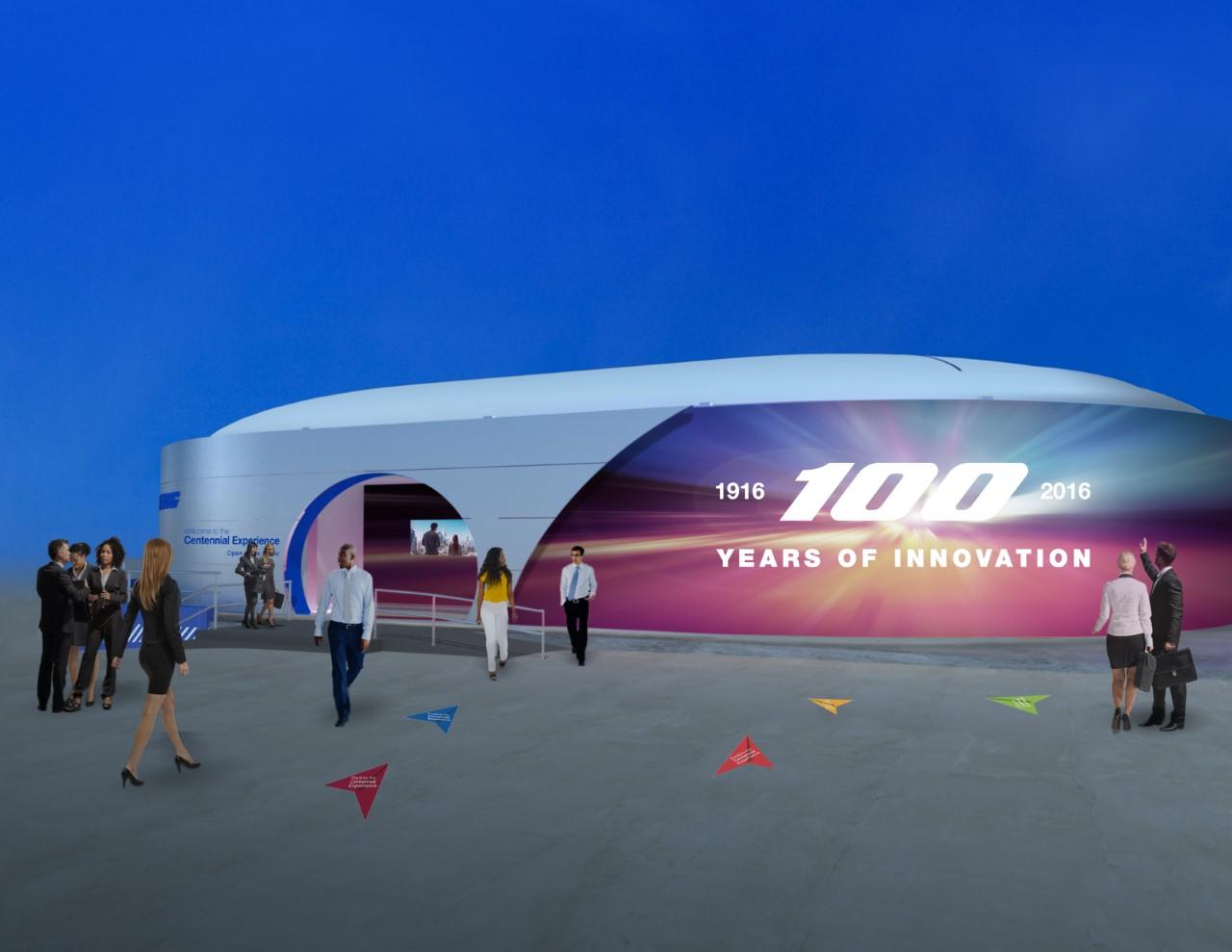 Así será el pabellón especial de Boeing por su centenario instalado en el Farnborough