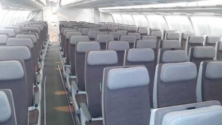 Nuevos asientos de clase turista del A330-200 de Iberia. Como detalle diferenciador rápido respecto a los de los A330-300, estos tienen los reposabrazos grises y los A330-300 rojos.
