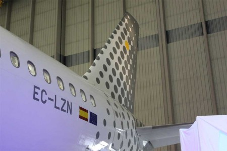 El primer A320 de vueling con wifi a bordo de pago